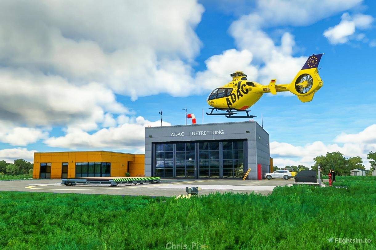 ADAC Luftrettungszentrum Christoph Europa 1 / Aachen-Merzbrück (EDKA) Flight Simulator 2020