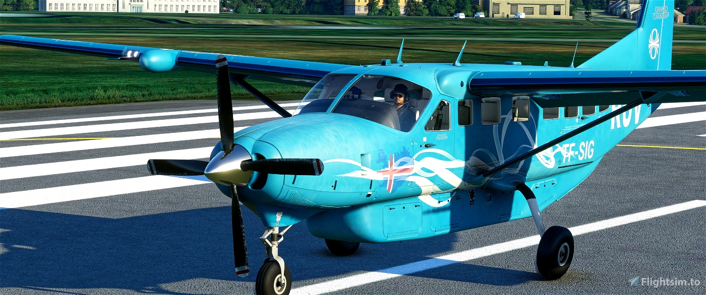 Cessna 208 B weathered/washed out - RÚV Icelandic National Broadcasting Service - fictional  Microsoft Flight Simulator