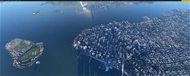 NYC Financial District  Microsoft Flight Simulator
