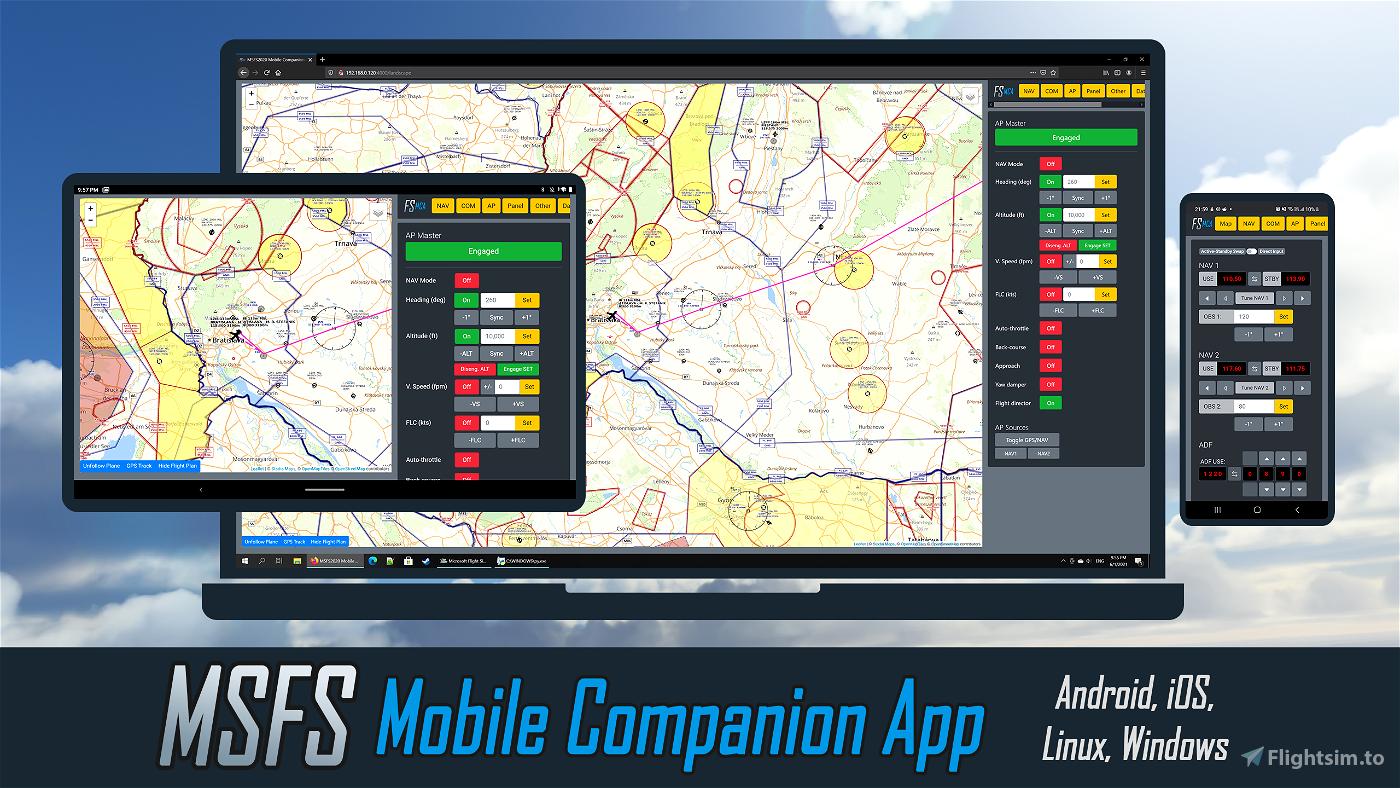 MSFS Mobile Companion App Microsoft Flight Simulator