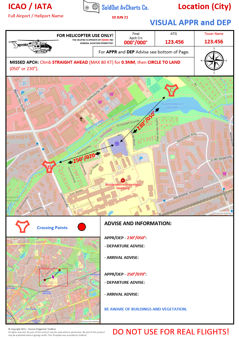 Heliport Charts Template for DEVS by SoldOut  Microsoft Flight Simulator