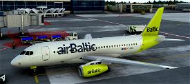 Sukhoi Superjet 100 airBaltic (fictional) Microsoft Flight Simulator