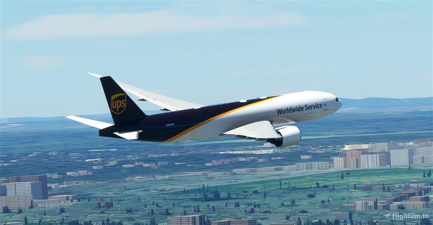 UPS / United Parcel Service CaptainSim 777-200F Microsoft Flight Simulator
