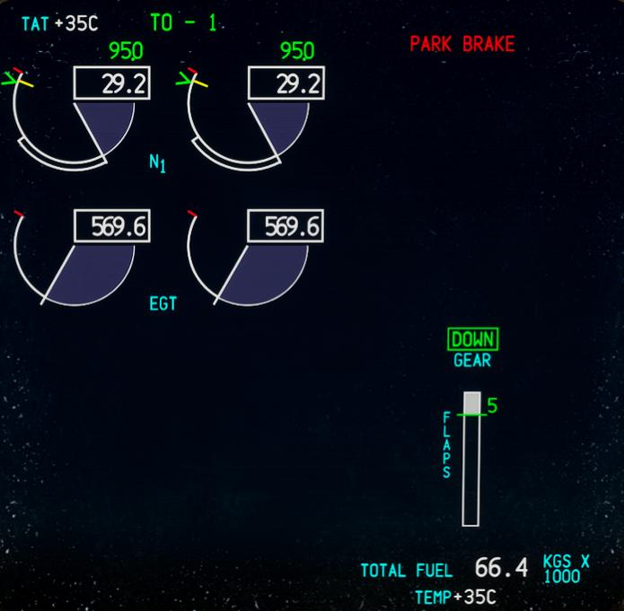 CS 777 Upper Eicas Mod Microsoft Flight Simulator