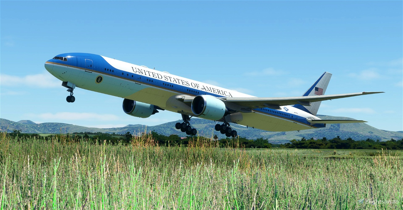 Air Force One / US Air Force / USAF CaptainSim 777-300ER