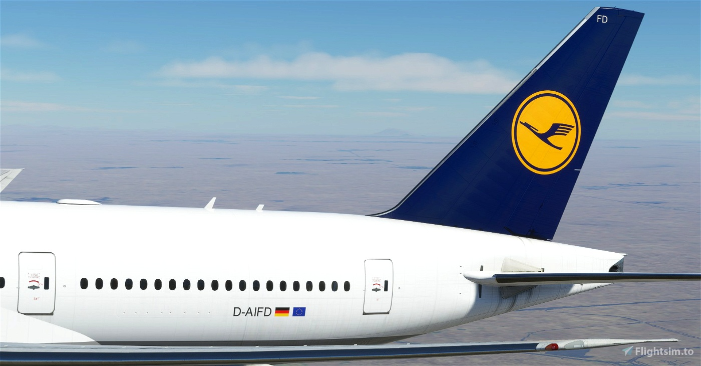 """Lufthansa """"1989 livery"""" CaptainSim 777-200"""