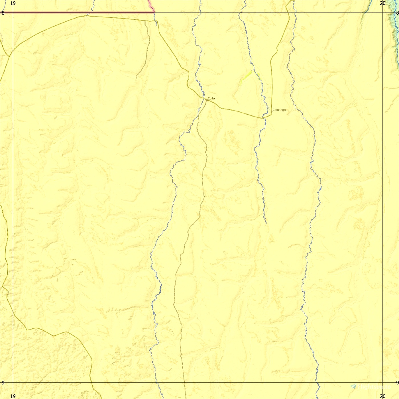 Angola ETM12 Enhanced Terrain Mesh 12m vol_03 -Lunda Norte