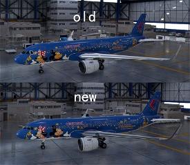 FBW A32NX China Eastern B-6635 Mickey And Minnie Microsoft Flight Simulator