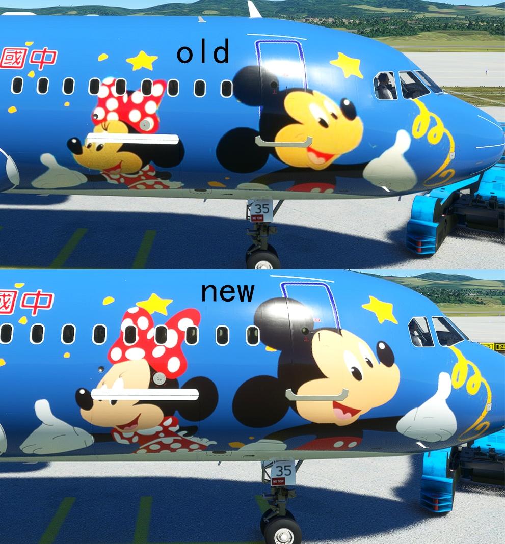 FBW A32NX China Eastern B-6635 Mickey And Minnie