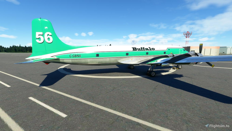 PMDG DC-6A interpretation Buffalo Airways C-GBNV No 56 (8K)