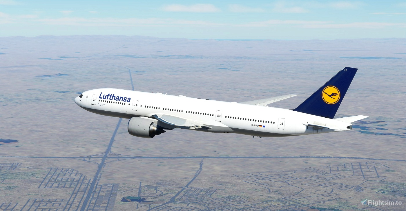 "Lufthansa ""1989 livery"" CaptainSim 777-200 Microsoft Flight Simulator"