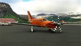 TBM 930 Orange Shard Microsoft Flight Simulator