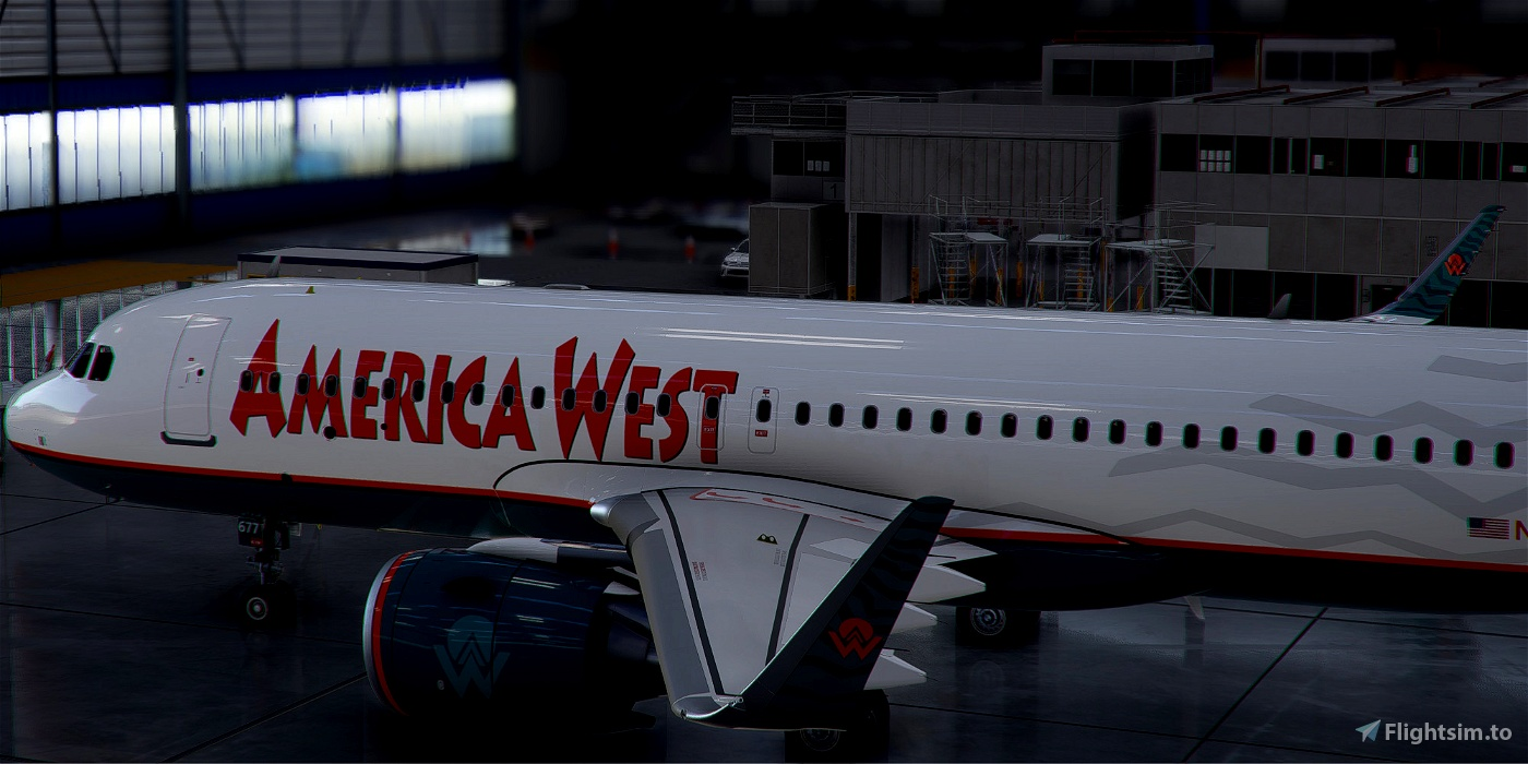 [A32NX] Airbus A320neo AMERICA WEST N677AW in 8k