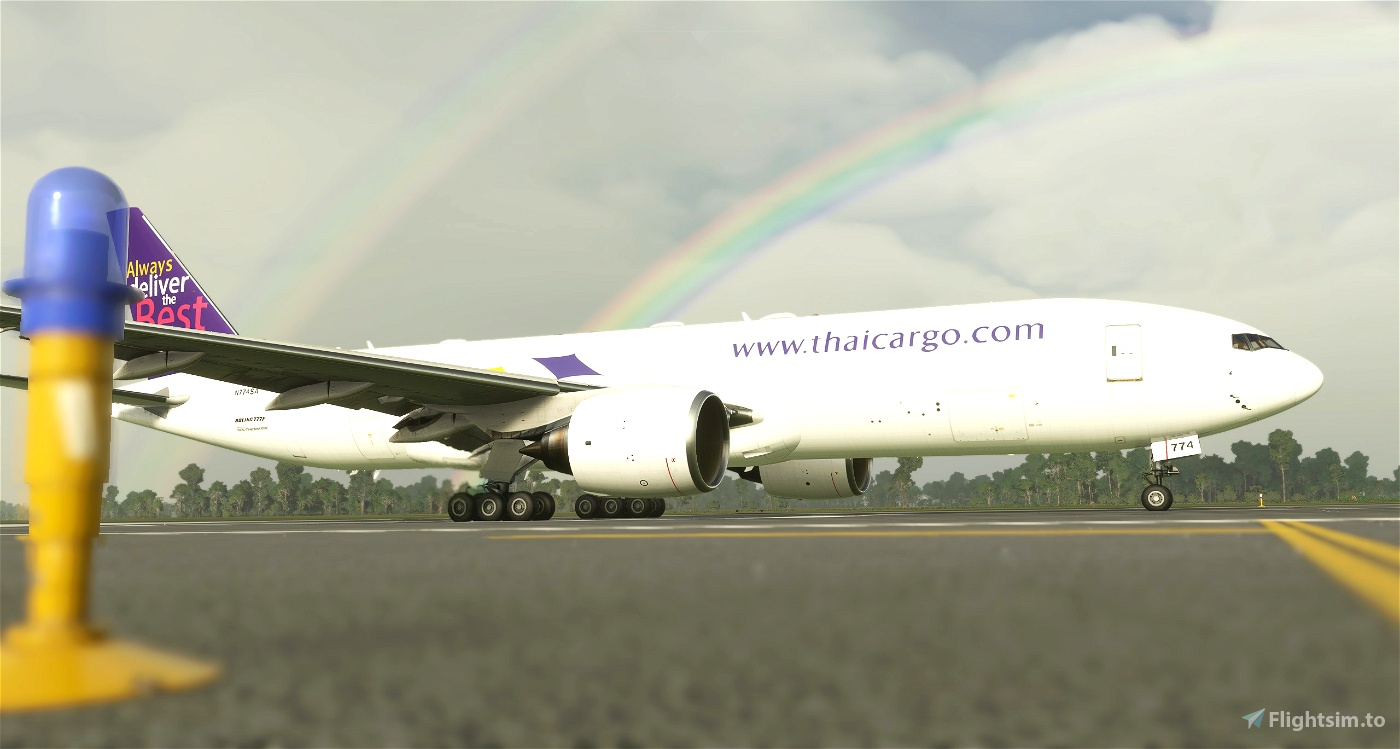 Boeing 777-200F Thai Cargo (Operated by Southern Air) [4K/8K]