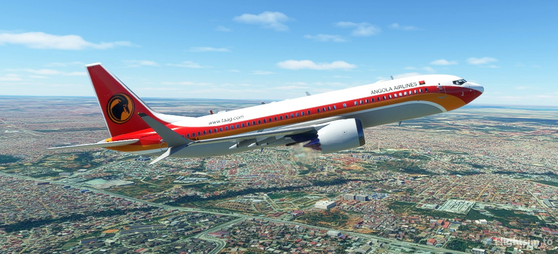 Bredok3D 737 MAX 8 | TAAG Angola Airlines