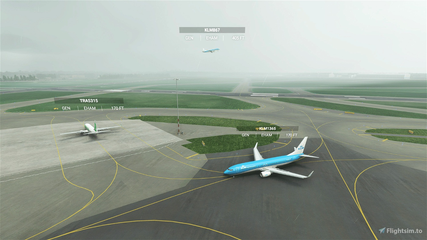 Easy airlines+aircraft matching with default live traffic