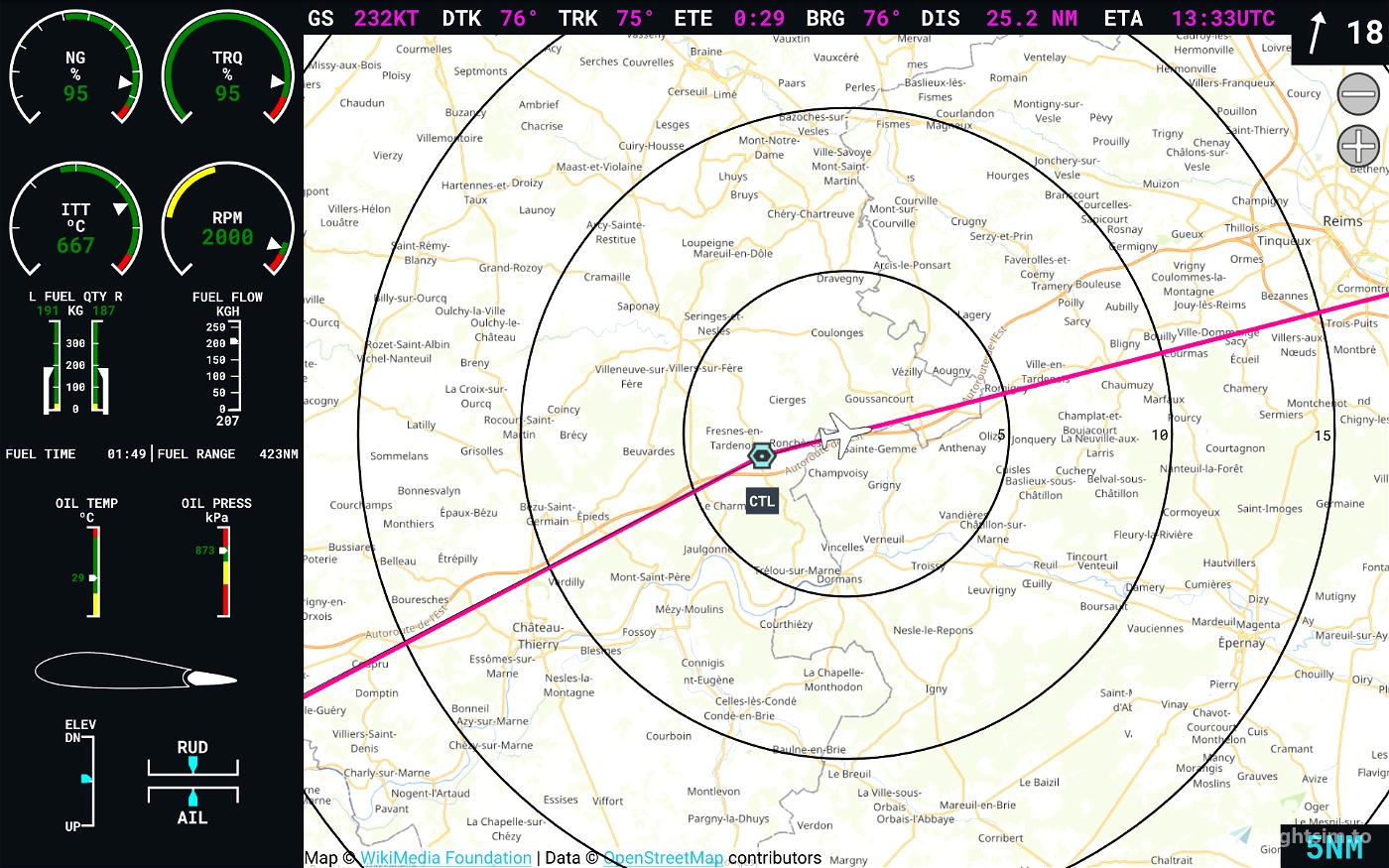 Flight Display Companion (G3000 style display for android)