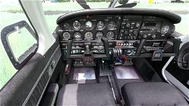 JustFlight Piper PA28 Turbo Arrow IV - Clean Grey Interior Microsoft Flight Simulator