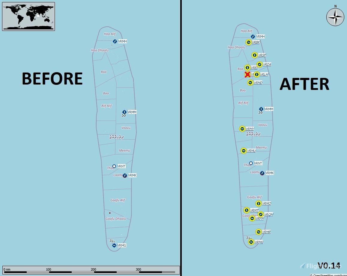 """Maldives pack by """"0235"""" Microsoft Flight Simulator"""