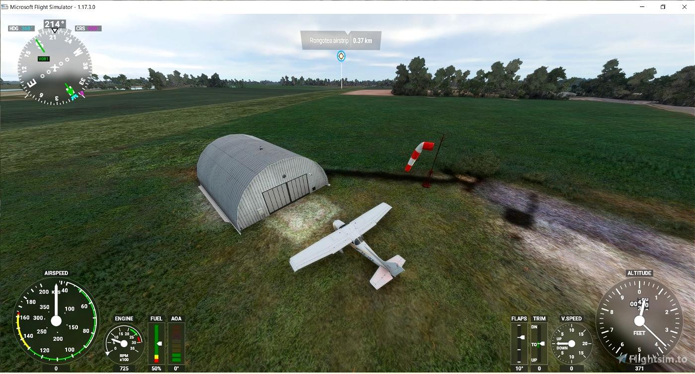 NZPM Palmerston North, NZXA(fictional) Rongotea, NZFI Fielding Microsoft Flight Simulator