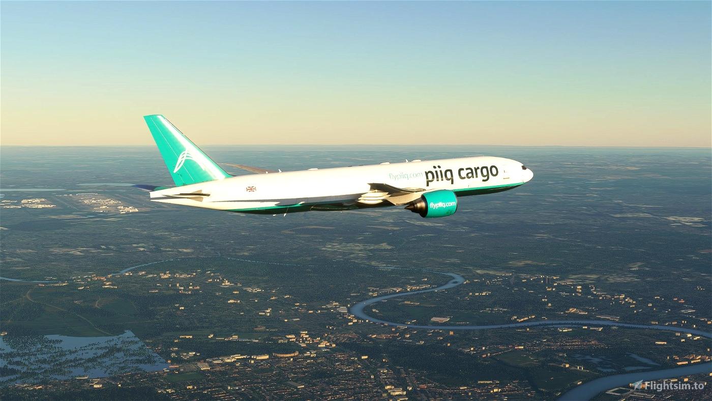 PIIQ CARGO CS Boeing 777F - 8K Microsoft Flight Simulator