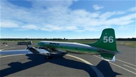 PMDG DC-6A interpretation Buffalo Airways C-GBNV No 56 (8K) Microsoft Flight Simulator