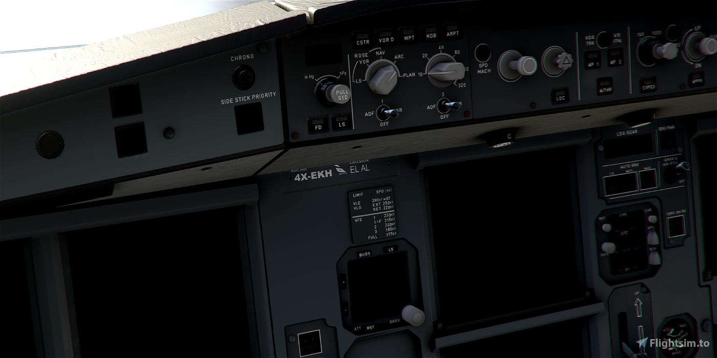 [A32NX] Airbus A320neo El AL Israel Airlines 4X-EKH in 8k