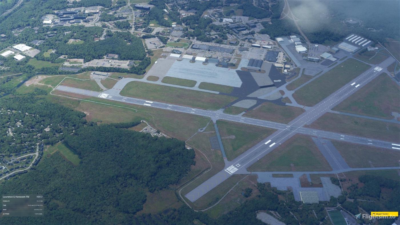KBED Laurence G Hanscom Field, Bedford, MA, USA Microsoft Flight Simulator