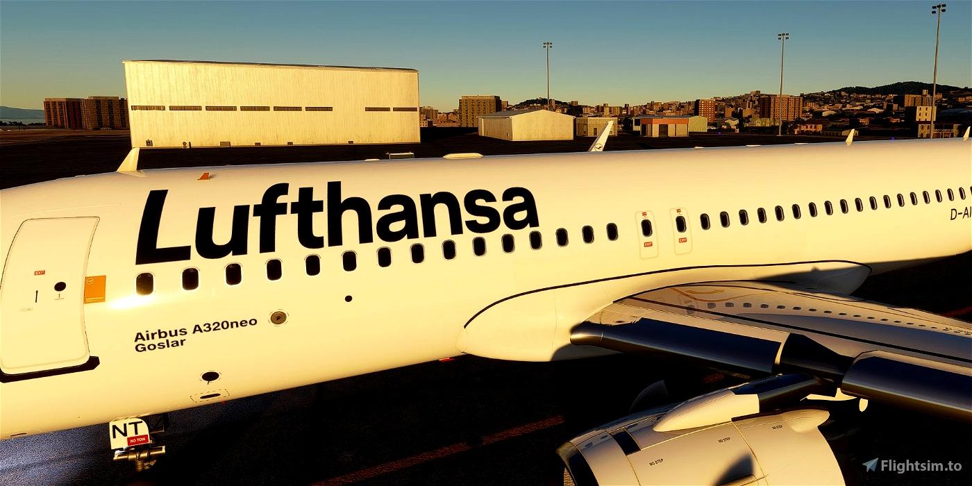 [A32NX] Airbus A320neo Lufthansa D-AINT | as 10k resolution