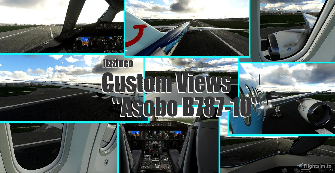 Asobo B787-10 - Custom Views Microsoft Flight Simulator