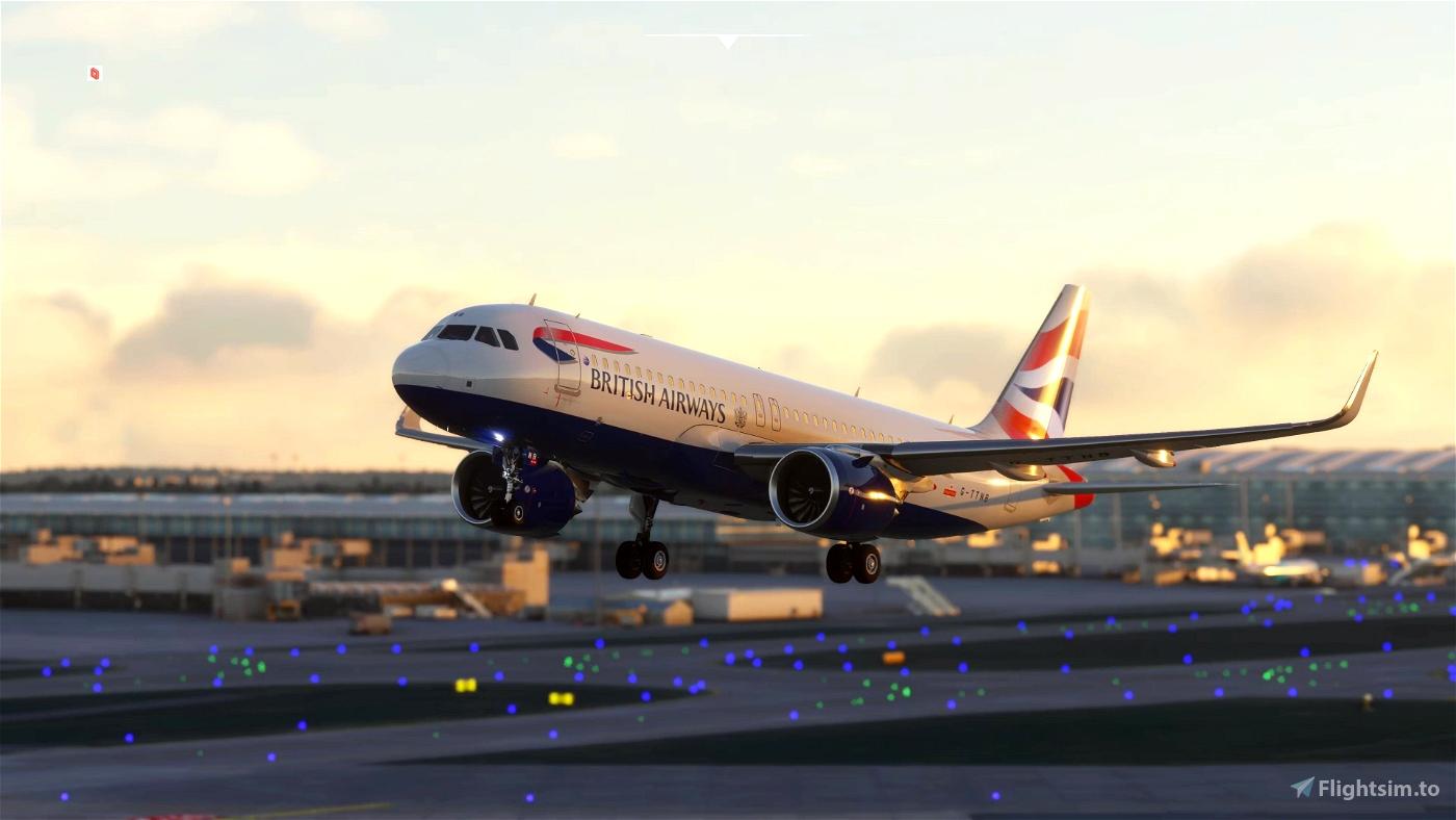 British Airways Livery Clean & Dirty - Ultra (FBW Compatible) Microsoft Flight Simulator