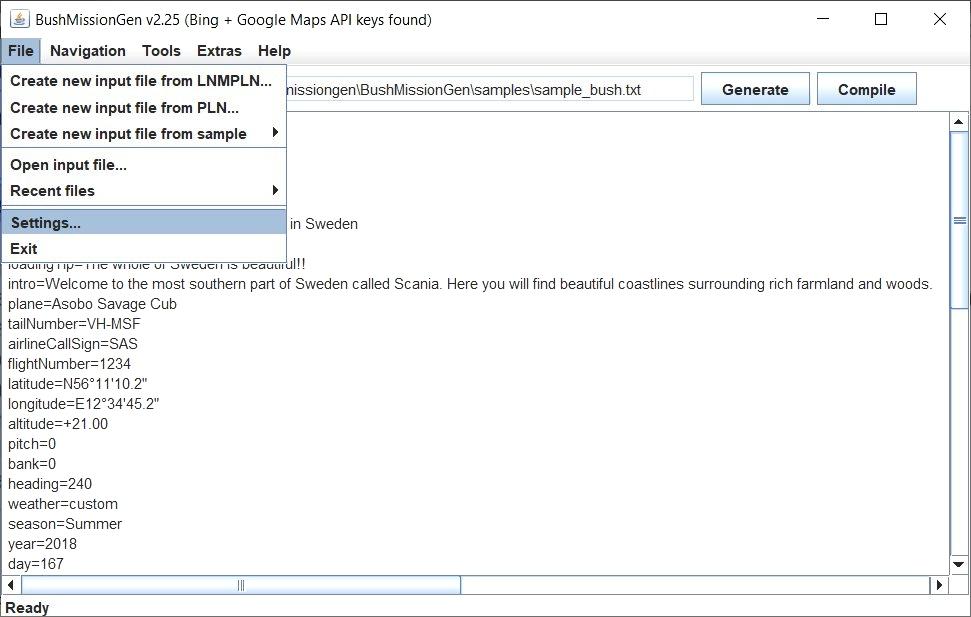 BushMissionGen Microsoft Flight Simulator