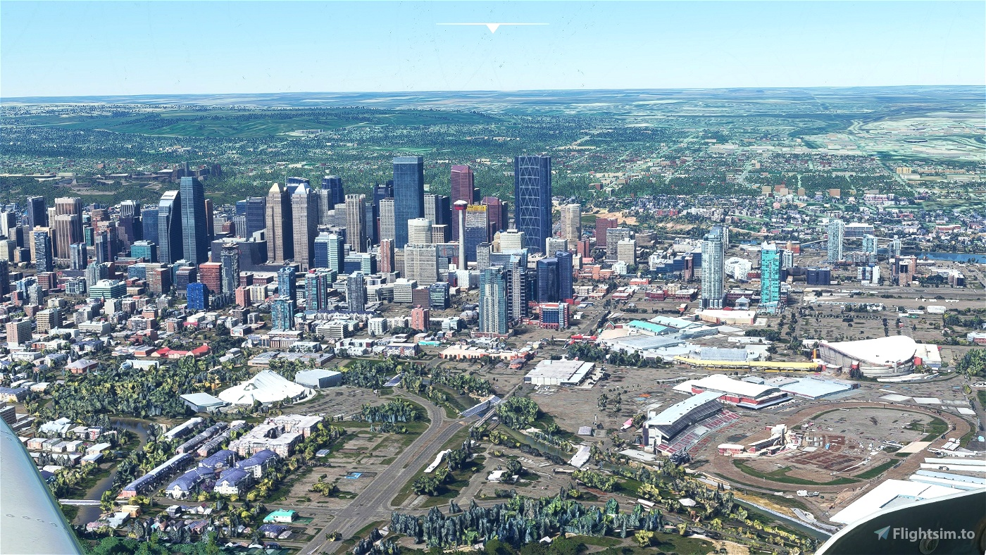 Calgary downtown photogrammetry Microsoft Flight Simulator