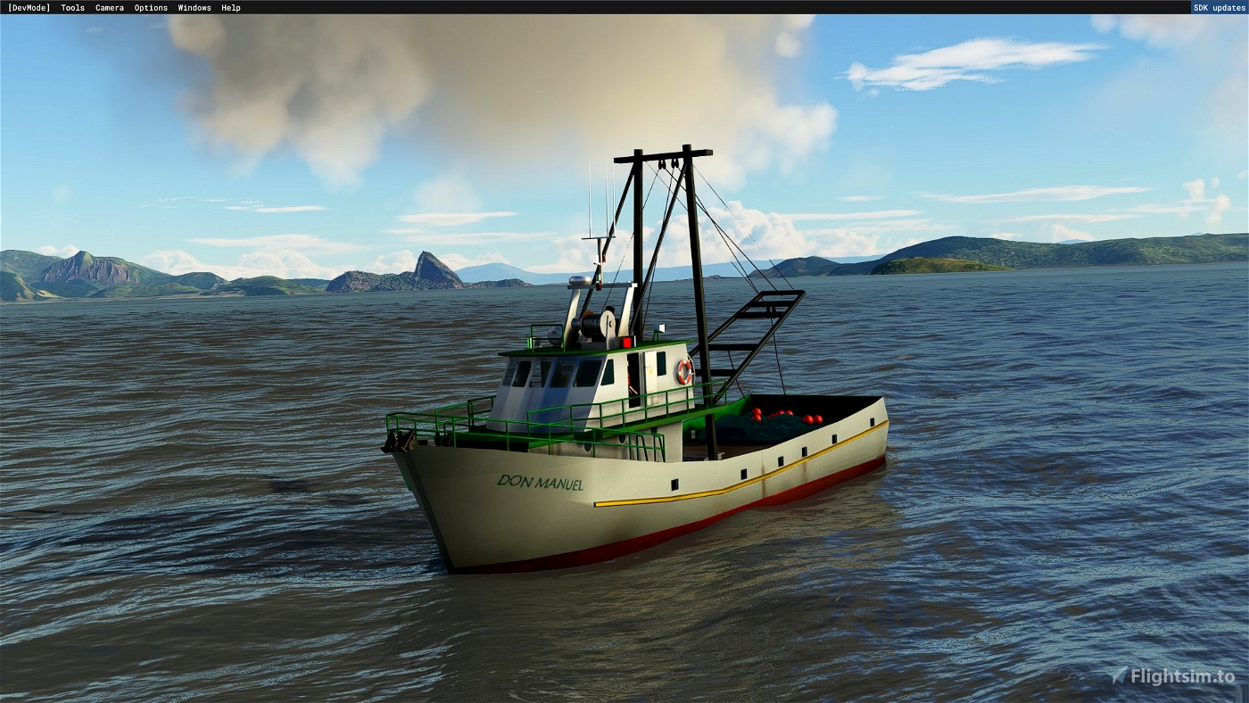 Flota de barcos controlable Microsoft Flight Simulator