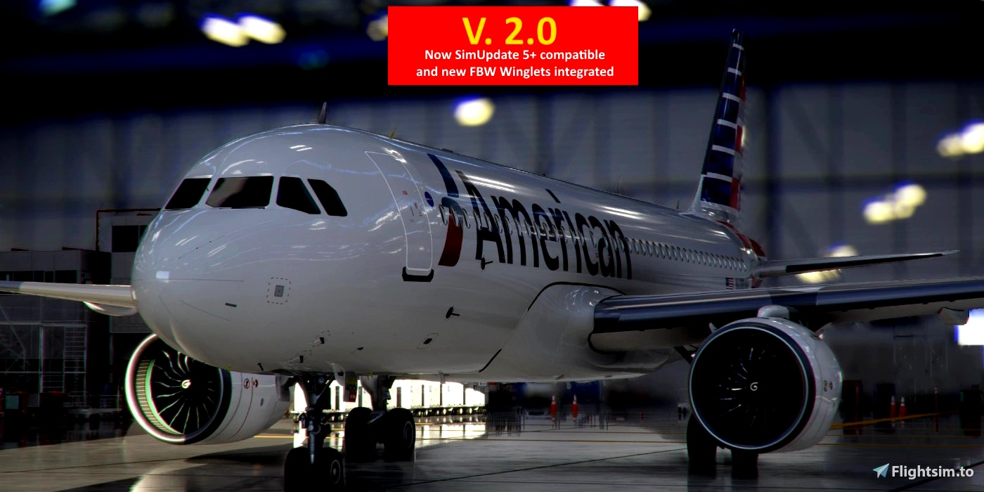 [A32NX] FlyByWire   Airbus A320neo American Airlines N400AN in 8k Microsoft Flight Simulator
