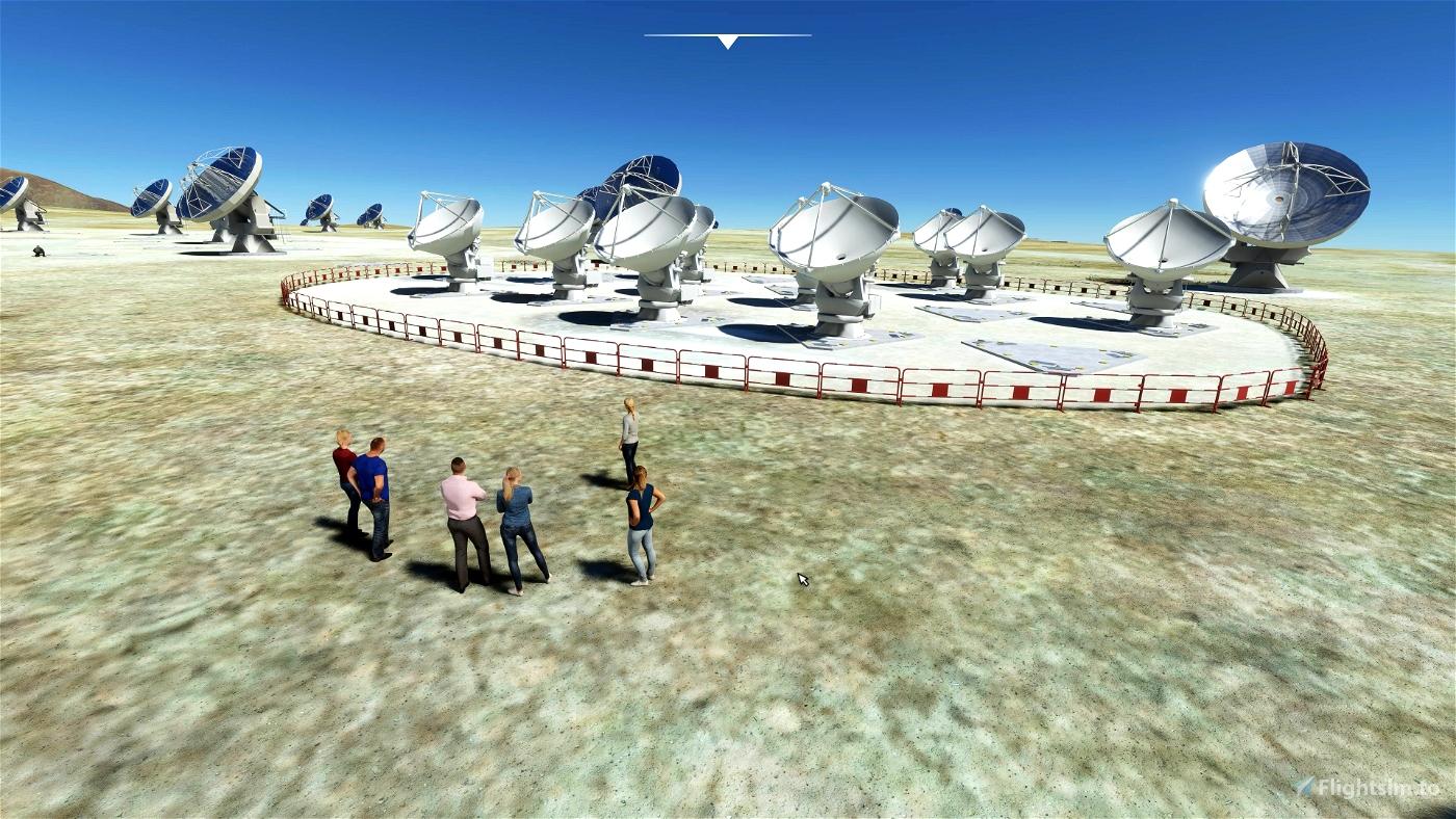 Giant Telescopes Microsoft Flight Simulator