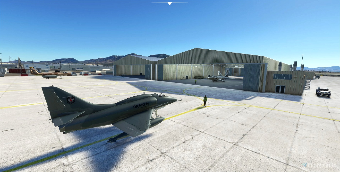 KXTA - Area 51 - Homey Airport - Groom Lake - Upgrade Microsoft Flight Simulator