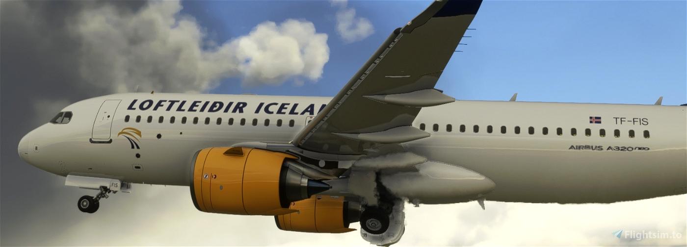 [A32NX] LOFTLEIDIR ICELANDIC TF-FIS 8K