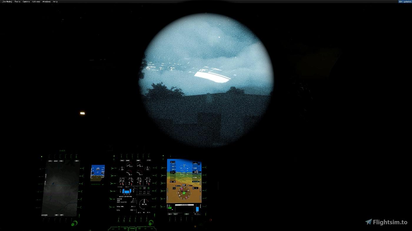 Night Vision Goggles FOV Modification (Realistic ~40 degrees) Microsoft Flight Simulator