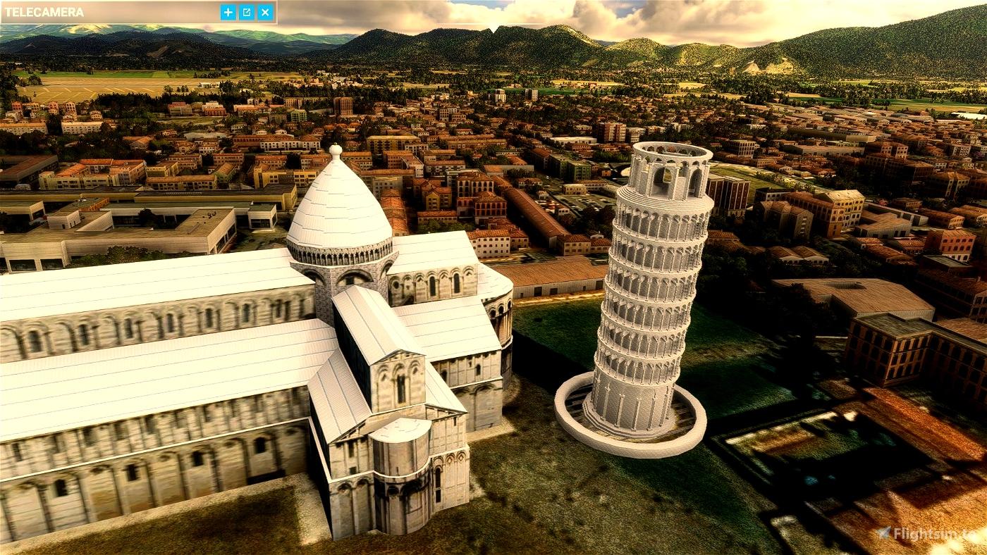 "Pisa ""Piazza dei Miracoli"" Microsoft Flight Simulator"