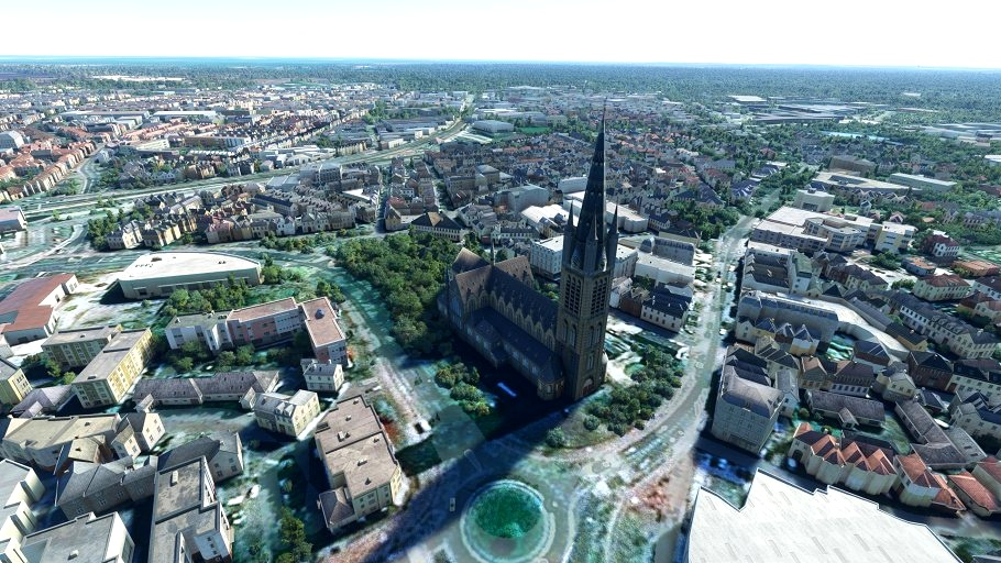 Sint-Vitus church Hilversum Microsoft Flight Simulator