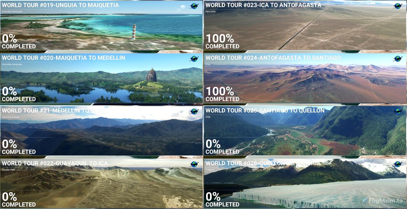 World Sightseeing Tour - Bush Trips Part 3 Microsoft Flight Simulator
