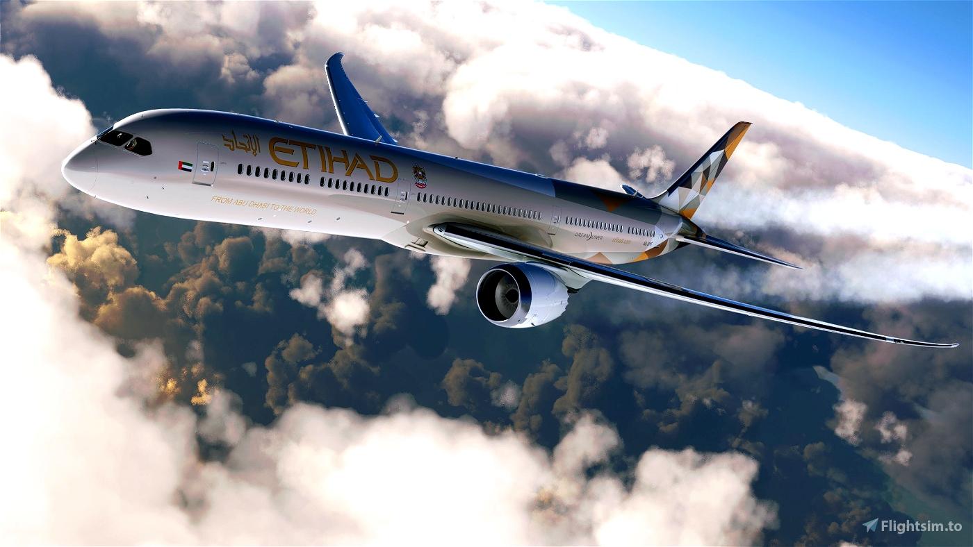 [3D Decal] Etihad 787-10 Microsoft Flight Simulator