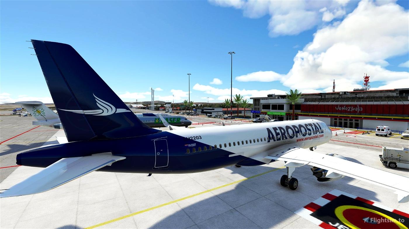 4k Aeropostal A320 Neo - Fictional paint (No mirroring texture)