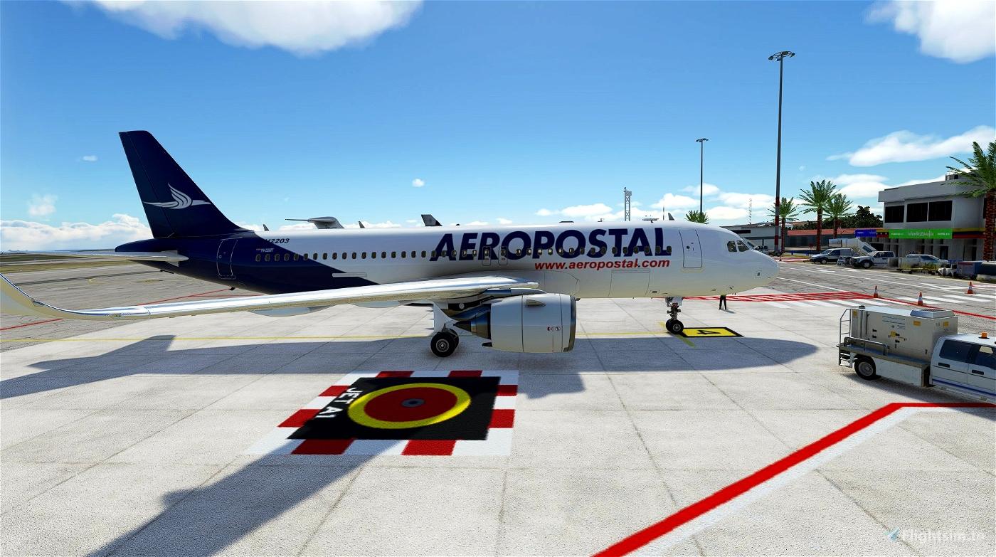 4k Aeropostal A320 Neo - Fictional paint (No mirroring texture) Microsoft Flight Simulator