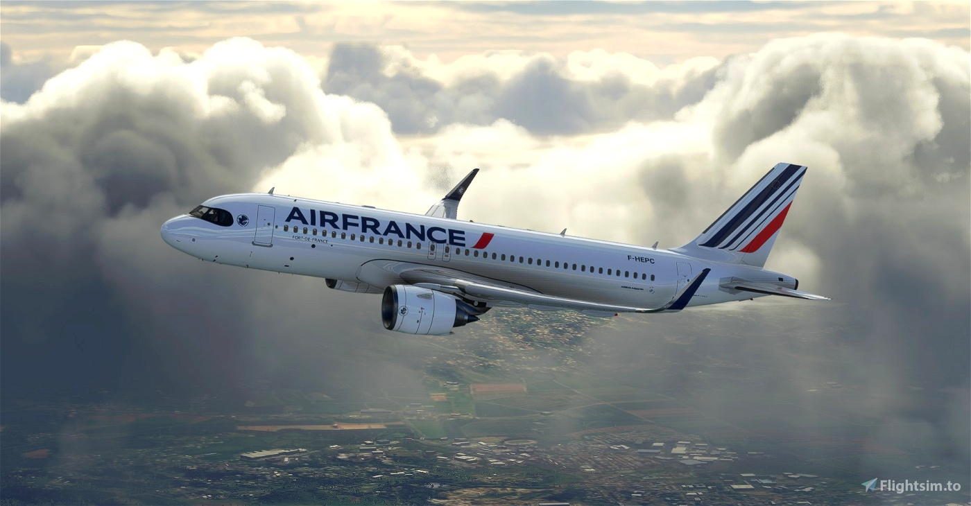 """[A32NX] 8K Air France """"Ajaccio""""Bordeaux""""Brest""""Lille""""Lyon""""Perpignan"""" NEW LIVERY (2021)"""