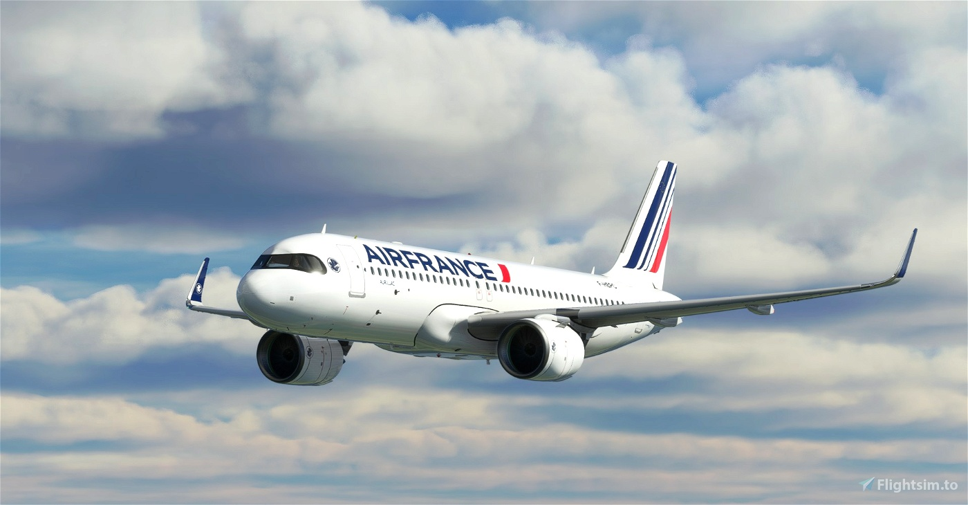 "[A32NX] 8K Air France ""Ajaccio""Bordeaux""Brest""Lille""Lyon""Perpignan"" NEW LIVERY (2021) Microsoft Flight Simulator"