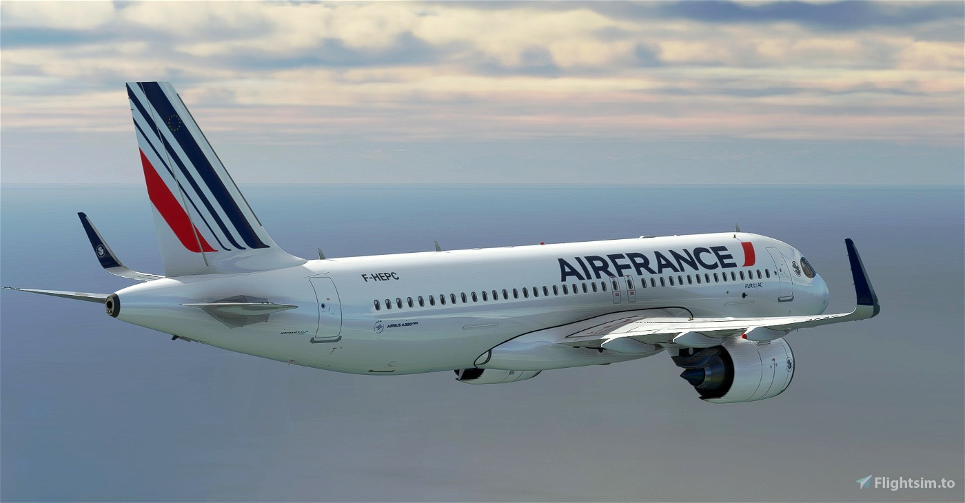 """[A32NX] 8K Air France """"Fort-de-France"""" (2021) NEW LIVERY"""