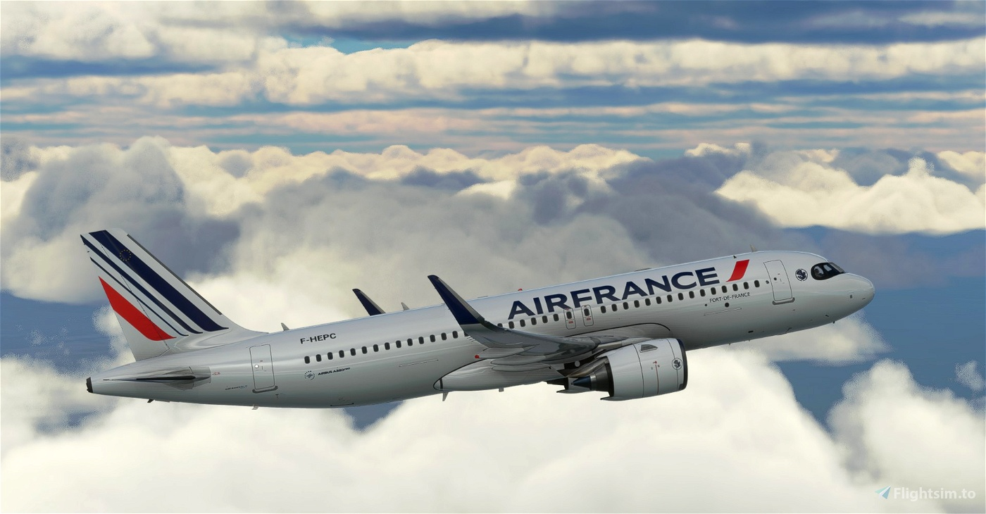 """[A32NX] 8K Air France """"Montpellier"""" (2021) NEW LIVERY"""
