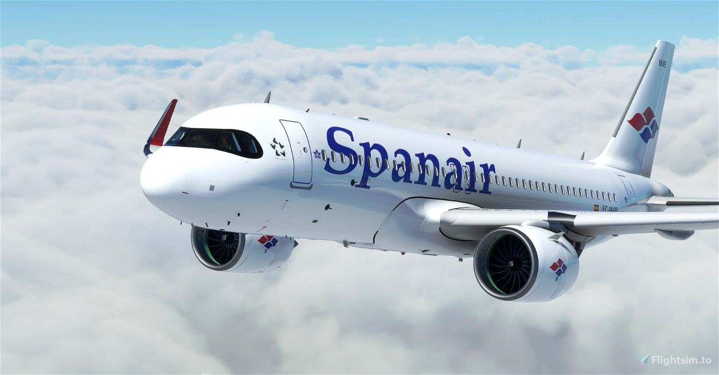 "[A32NX] Spanair ""1992 livery"" ""EC-IMB"" & ""EC-IVG"" Microsoft Flight Simulator"